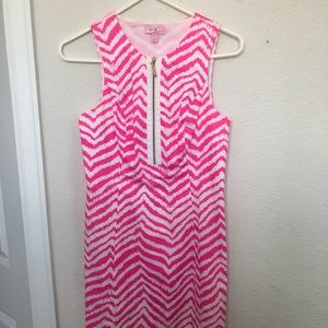 Lily Pulitzer pink and white dress
